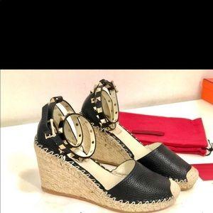 Valentino wedge sandals size 35